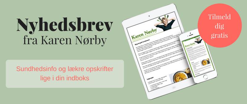Nyhedsbreve fra kostvejleder og ernæringsterapeut Karen Nørby